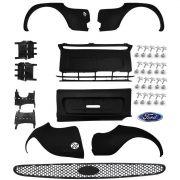 kit parachoque dianteiro + traseiro ford ka 97 98 99 00 +grampos +suportes