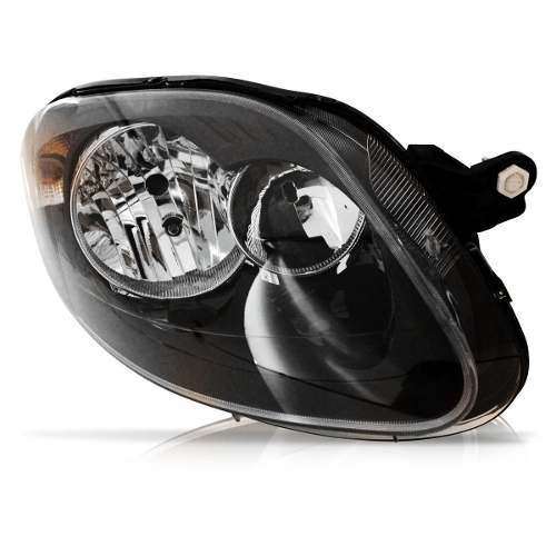 Farol Novo Palio G5 evo 2012 2013 2014 mascara negra