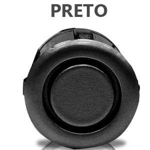 Sensor Estacionamento Ré  Display Led Sinal Sonoro Preto