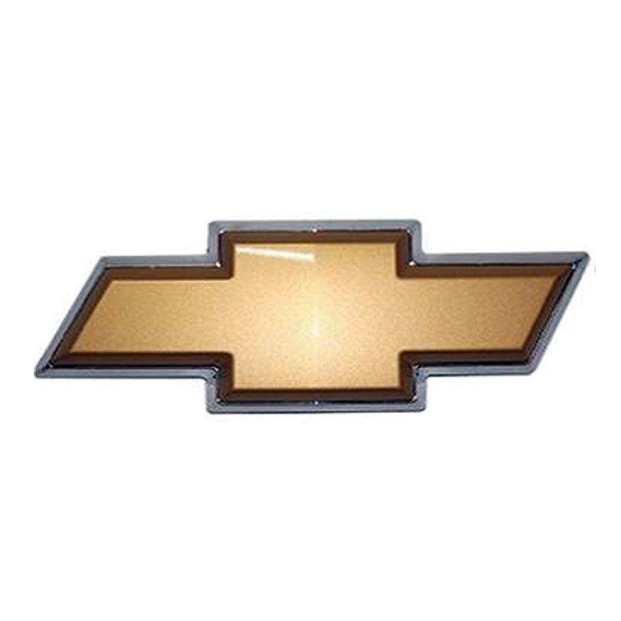 Emblema Dourado Gm Com Borda Cromada