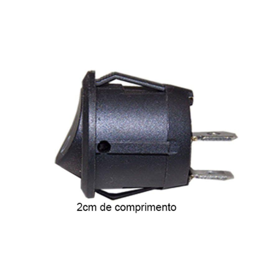 Kit 50 Chaves Redonda Tic Tac Botão Liga Desliga On Off 12v