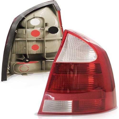 Lanterna Traseira Corsa Sedan 2003 A 2007 Bicolor Re Branca