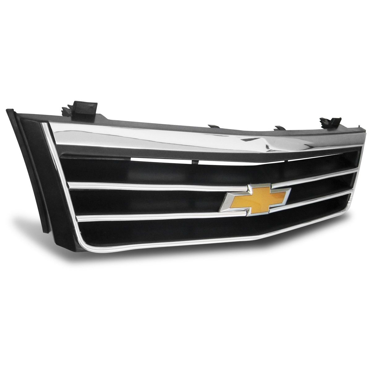 Grade tuning Monza até 90 com Frisos Cromado  Emblema Agile