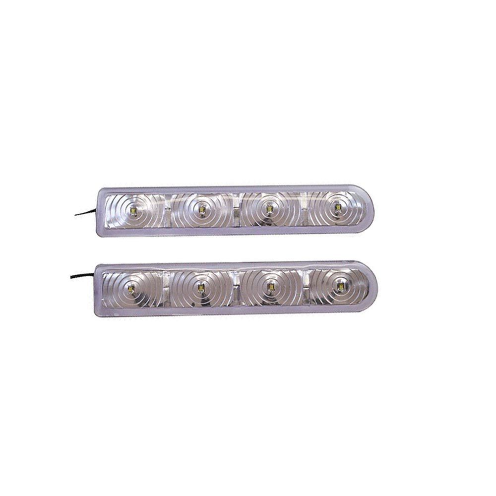 par de pisca p/ retrovisor slim universal  retro light 4 leds