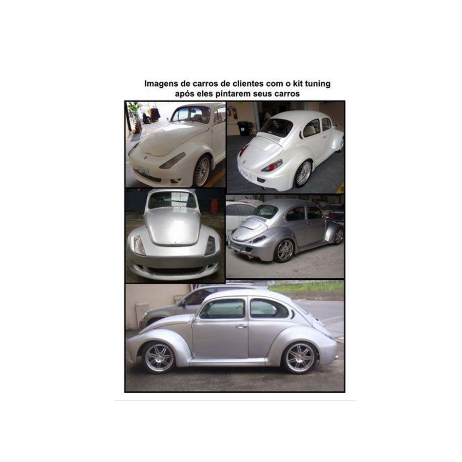 Kit spoiler aerodinamico Tuning Fusca Esportivo Fibra S/ Pintura