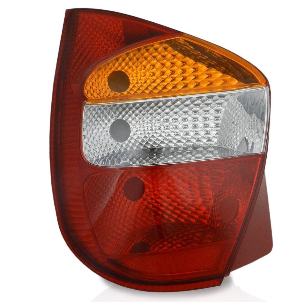 Lanterna Traseira Palio Fire G2 01 02 03 04 05 Tricolor Carcaça Vermelha
