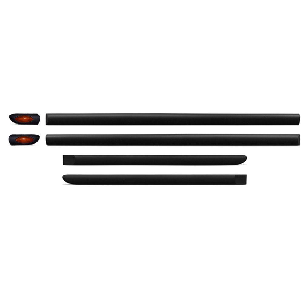 Jogo Friso Lateral preto com pisca ambar Vectra 01-05  serve 97-99