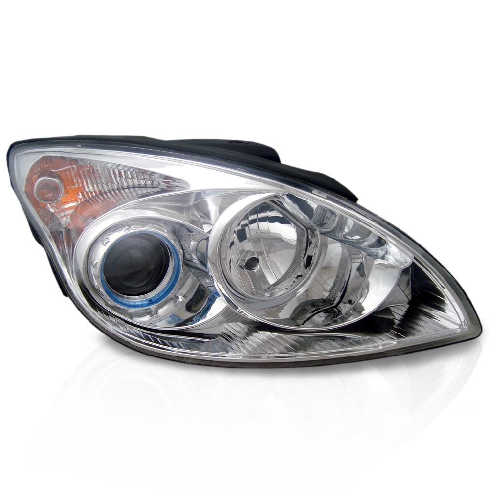 Farol Hyundai I30 2008 2009 2010 2011 Máscara Cromada