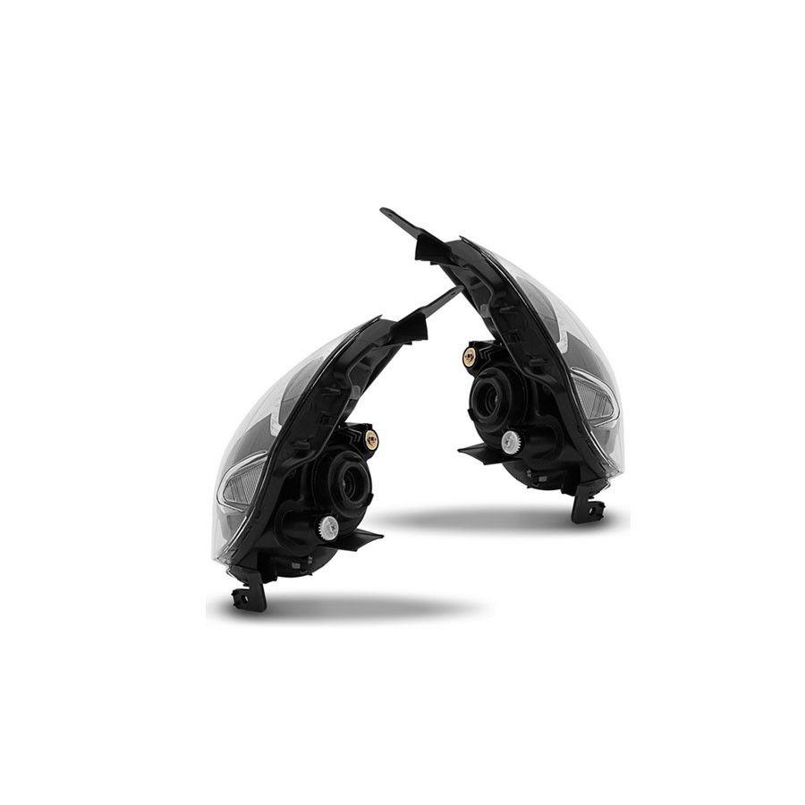 Par Farol Honda Fit 03 04 05 06 07 08 Máscara Negra