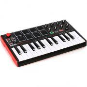 Akai Midi MPK Mini 2 Controladora Compacta para Produção Musical Ableton Live