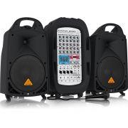 Behringer EuroPort EPA900 Caixa de Som Behringer Kit de Pa 900w com Mixer e Microfone
