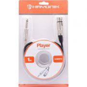 Hayonik Player Xlr(F) P10 Cabo de 1m para Microfone