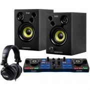 Controladora Hercules DJ Starter Kit Com Fone de Ouvido e Monitor de Áudio