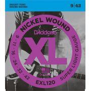 D'Addario EXL120 Encordoamento para Guitarra Elétrica