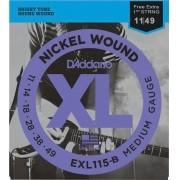 Encordoamento Para Guitarra Daddario EXL115 6 Cordas