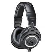 Audio Technica ATH-M50x Fones de Ouvido ATH M50X para DJ Profissional e Monitoração