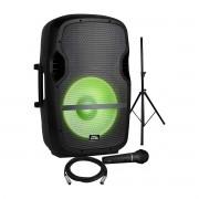 Kit Caixa Amplificada Pro Bass Com Microfone e Tripé Elevate LP