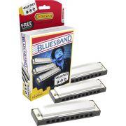 Hohner Blues Band 559/20 Gaita Harmônica Pacote com 3 Peças A C G
