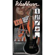 Washburn RX10 Kit de Guitarra Pack com Amplificador Afinador Cabo e Palhetas