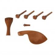 Kit Para Violino Dominante Orchestral 4/4 Boxwood Hill 7 Peças