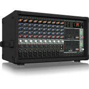 Behringer EuroPower PMP2000 Mesa de Som PMP-2000 14 Canais Profissional com Mixer