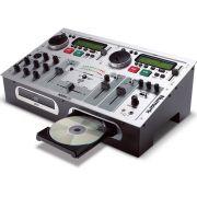 Numark KMX02 Sistema para Karaokê CD Player Mixer Profissional Ideal para Clubes