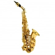 Saxofone Soprano Dolphin Curvo Sib Laqueado
