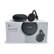 Smart TV kit Google Home Mini e Chromecast