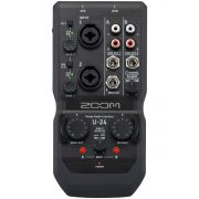 Zoom U-24 Interface de Áudio U24 2x4 Usb 24-Bit 96-Khz Midi Ableton Live Pc Mac iPad
