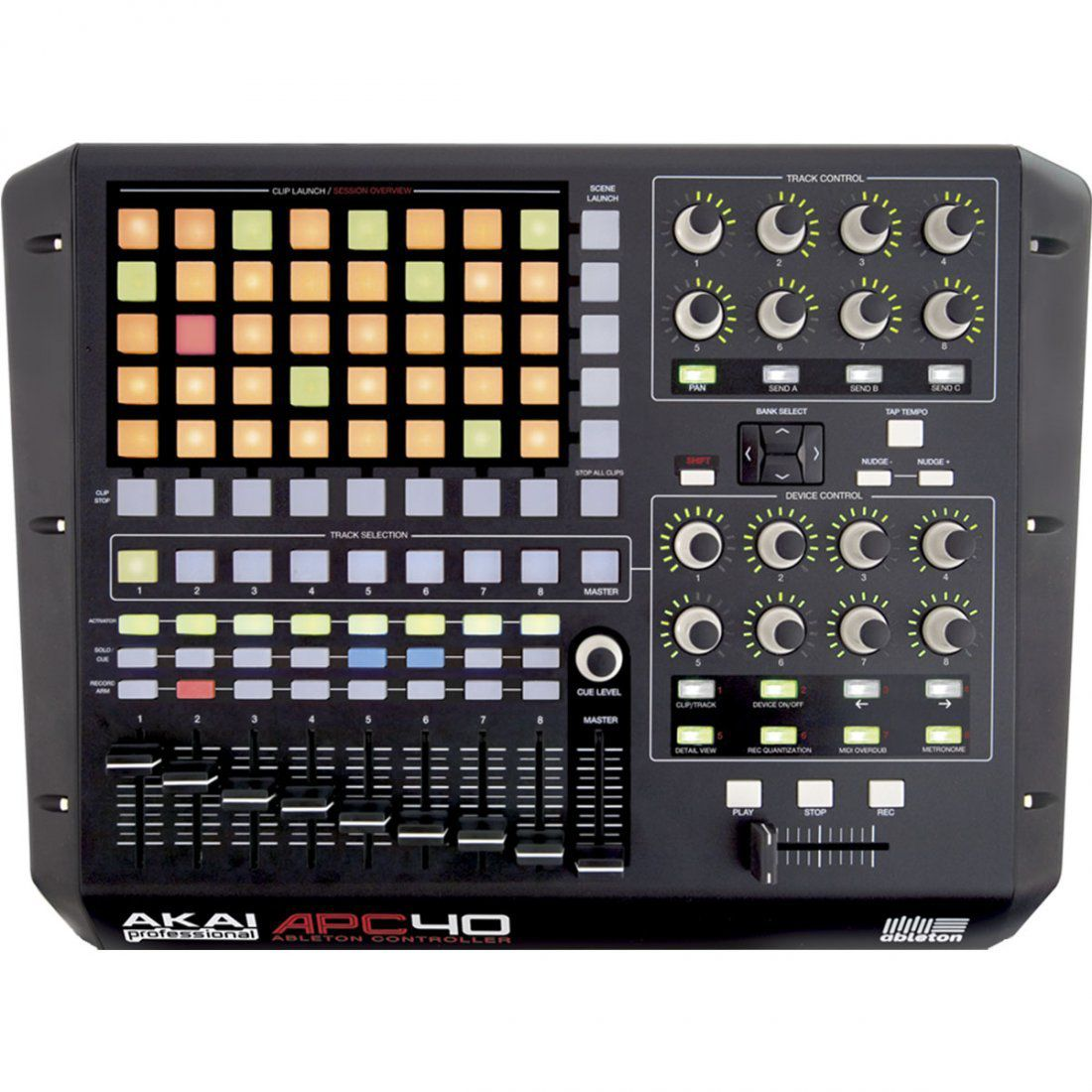 Akai APC40 Controladora APC 40 Produção Musical Pads Faders e Knobs Ableton Live