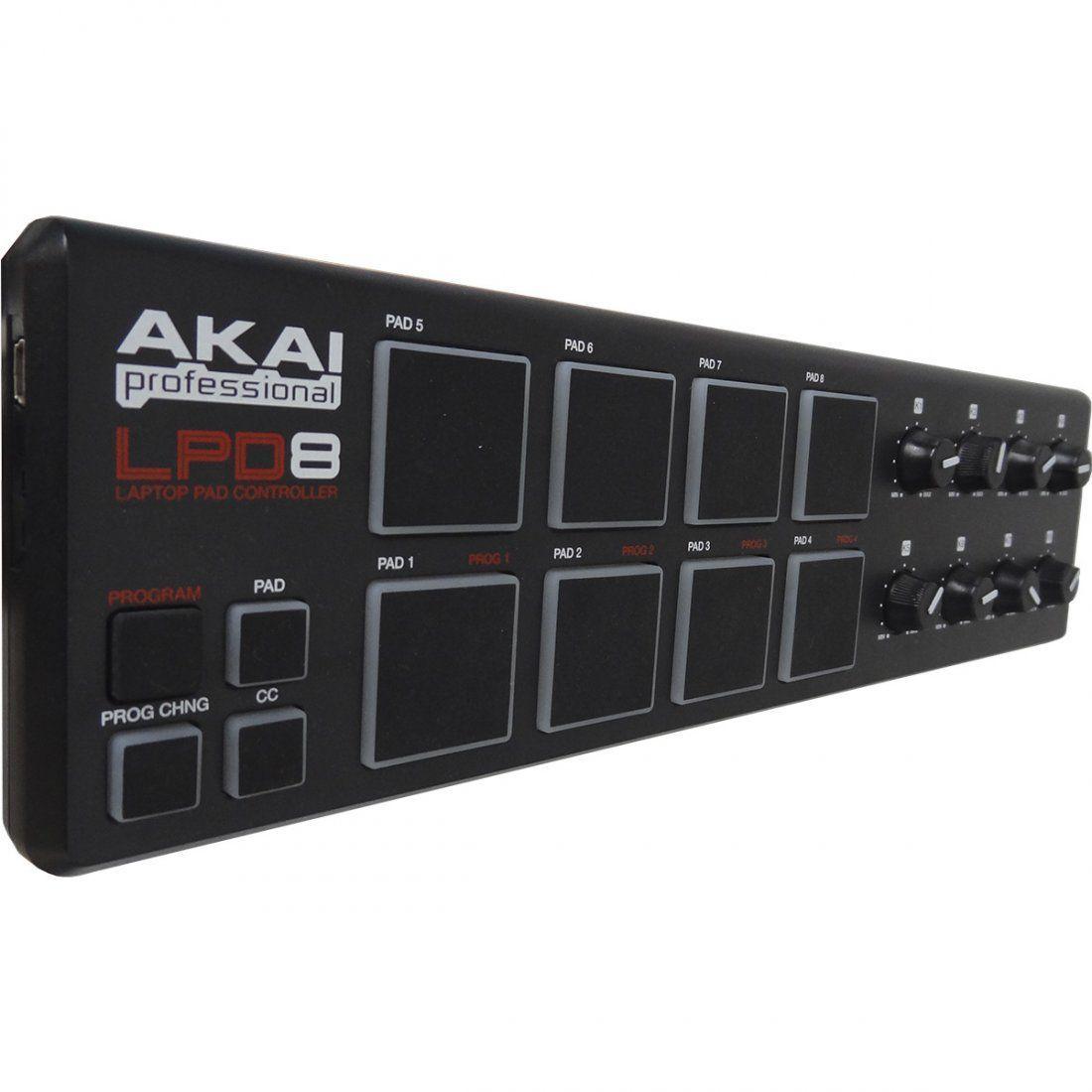 Akai LPD8 V2 Controladora LPD-8 V2 8-Pads 8-Knobs Beatmaker Produção Ableton Live