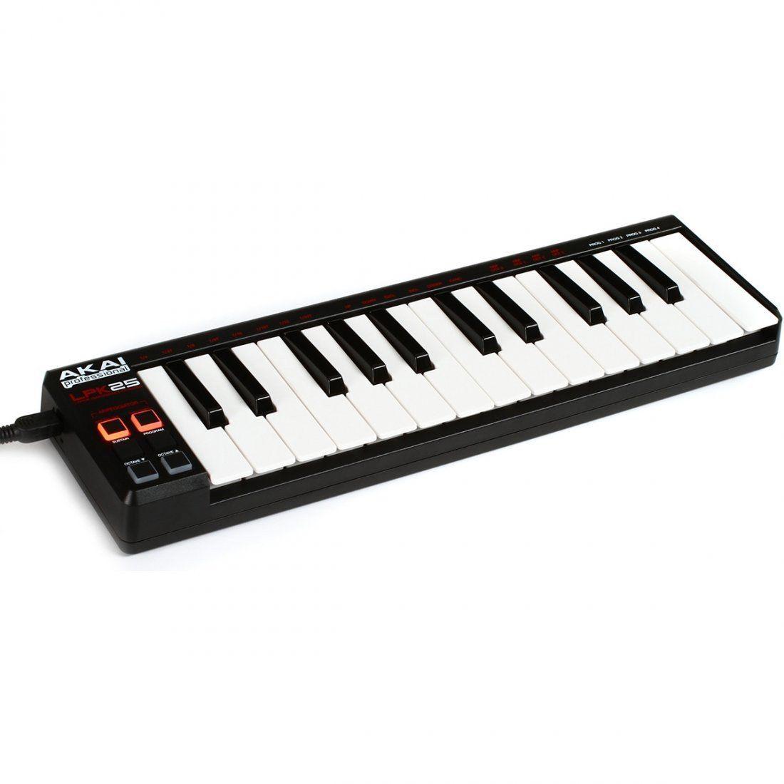 Akai Midi LPK25 Controladora Teclado 25 Teclas para Produção musical Ableton