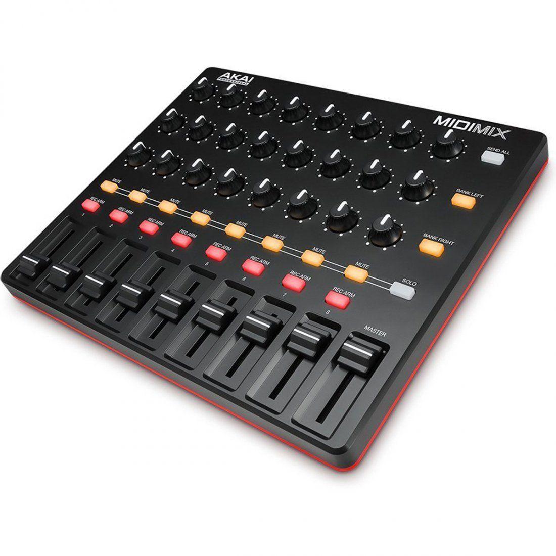Akai MidiMix Controladora Produção Musical Midi Mix Mixer Daw Ableton Live