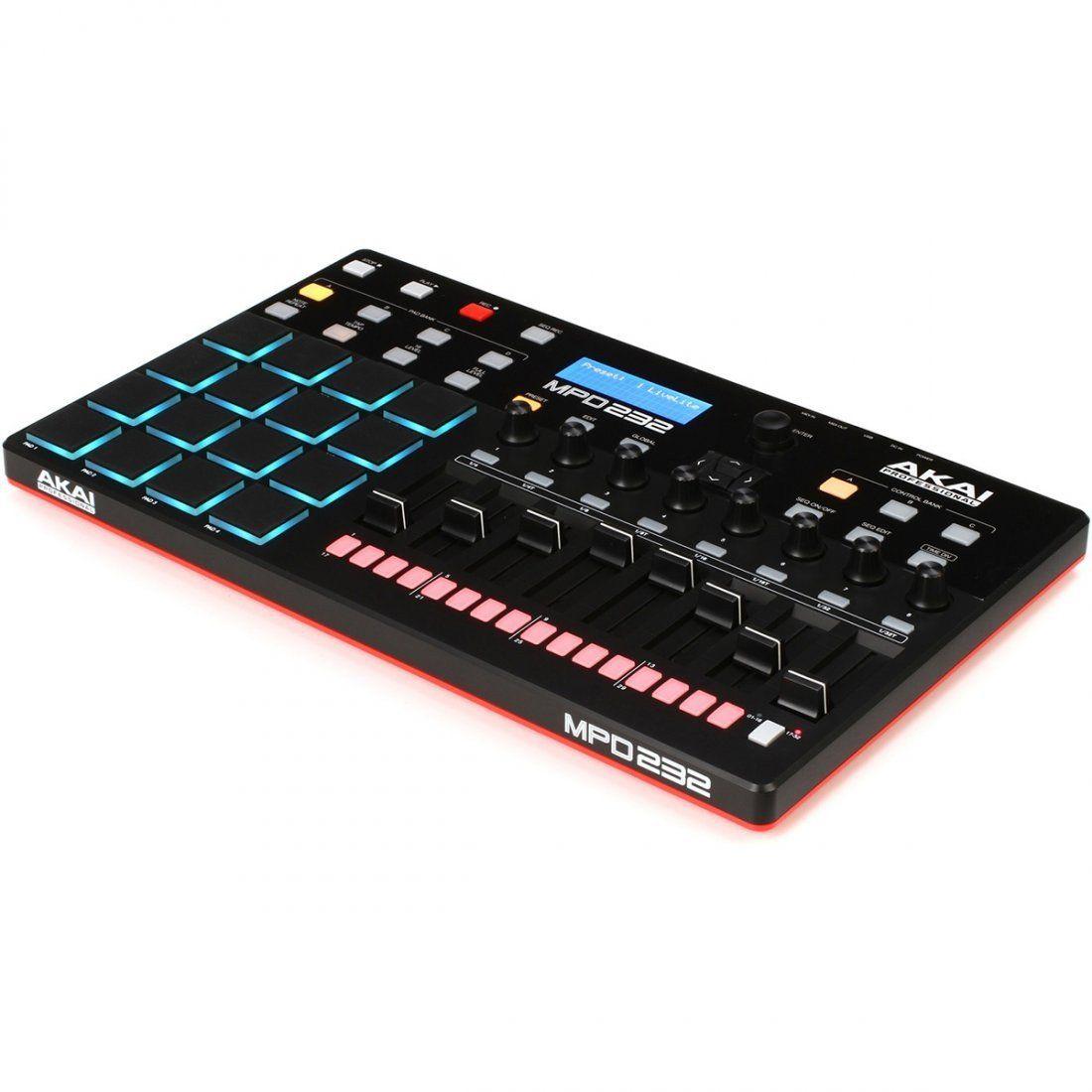 Akai MPD232 Controladora MPD-232 Sampler 16-Pads Sequenciador 32-Steps Beatmaker