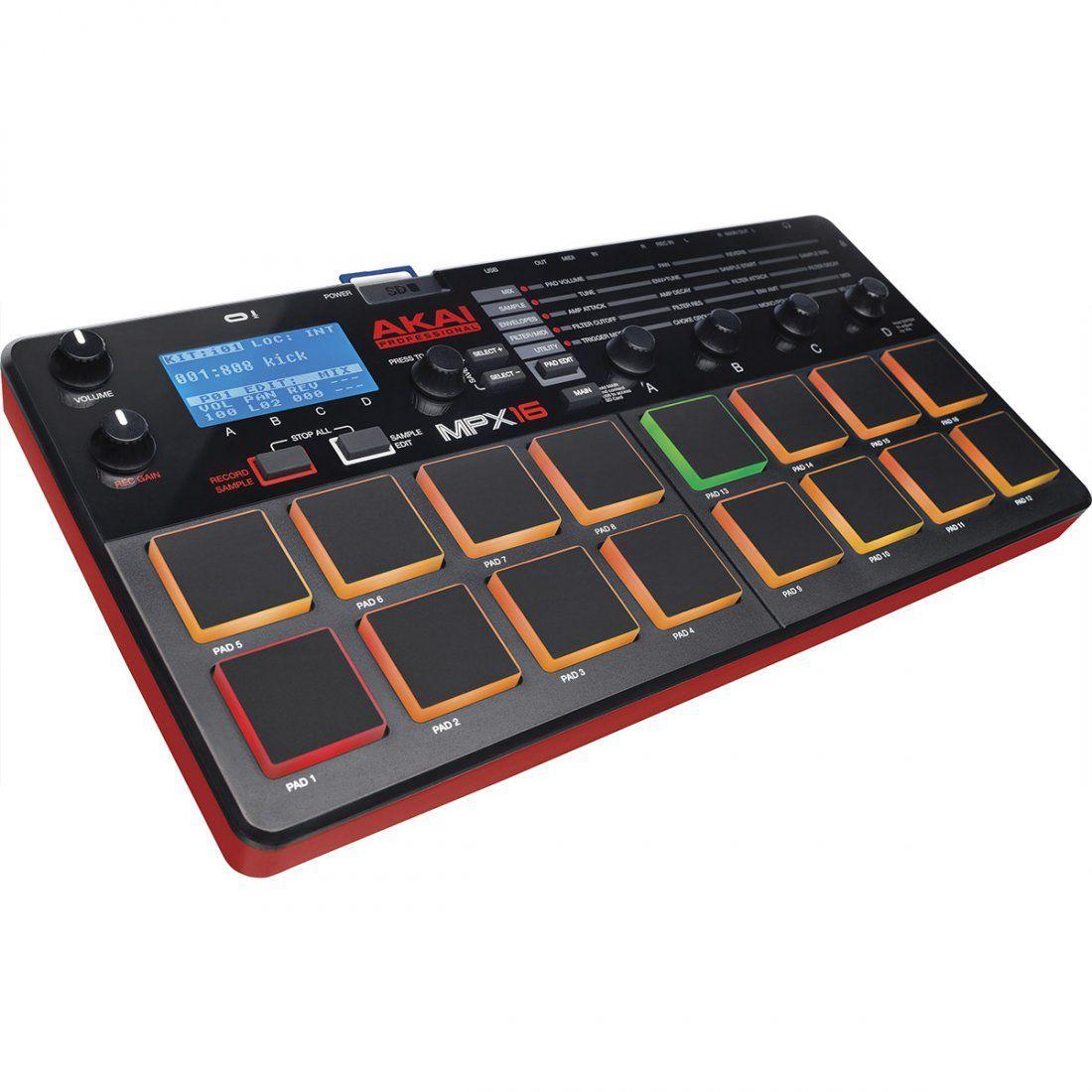 Akai MPX16 Controladora Produção MPX 16  Sampler 16-Pads Midi Beatmaker
