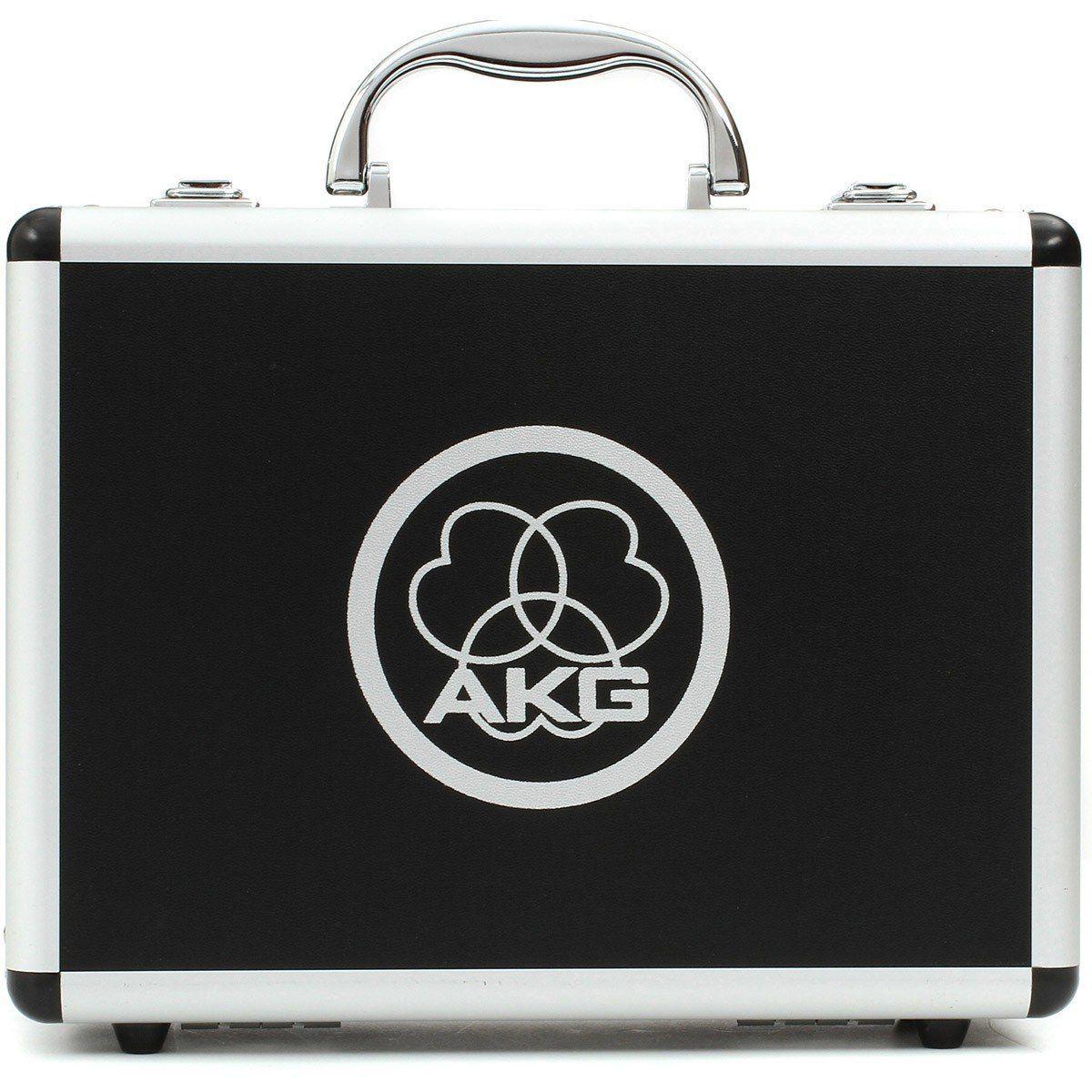 Akg C214 Microfone Cardioide Condensador Akg-C214 Diafragma Grande para Gravação