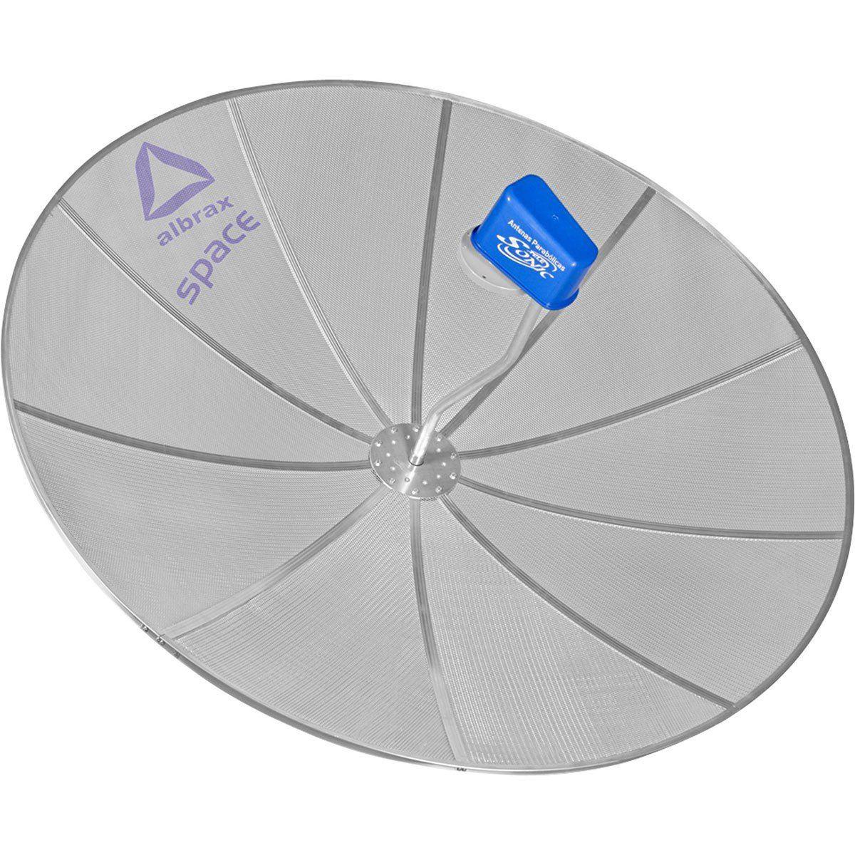Albrax Space Antena Parabólica para Parede