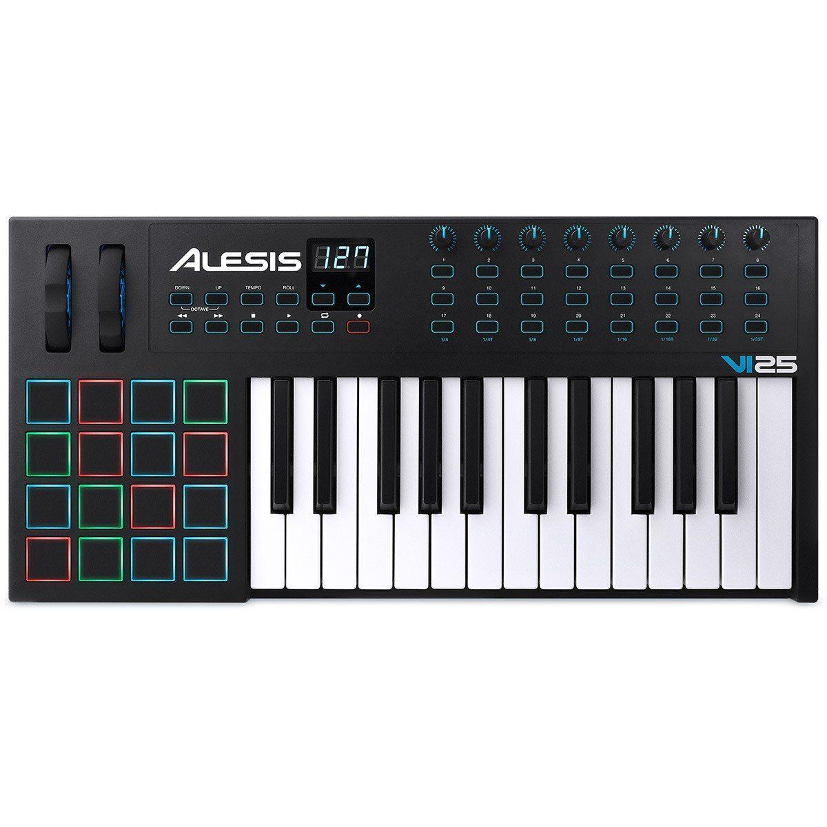 Alesis VI25 Controladora Midi de 25 Teclas para Performances ao Vivo e Produção