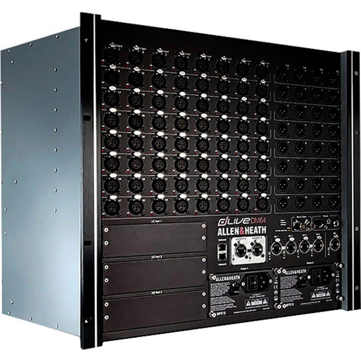 Allen Heath dLive DM64 Mesa de Som DM-64 Rack com 128 Canais para iPad ou Laptop
