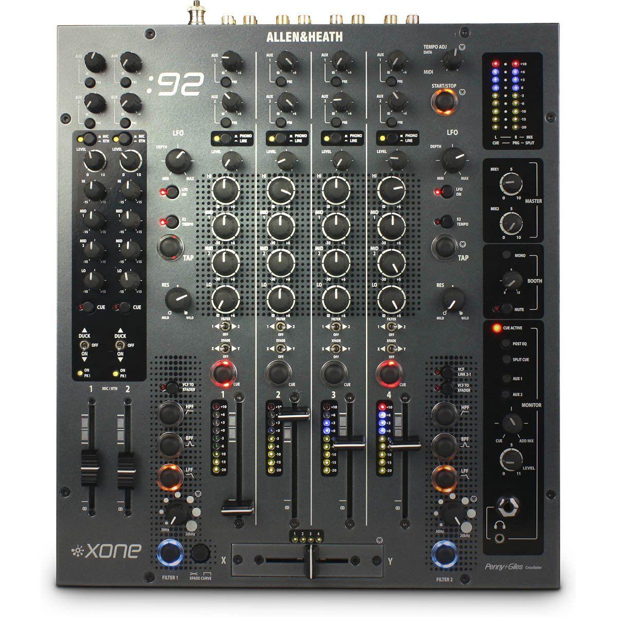 Allen Heath Xone 92 Mixer de 6 Canais Allen Heath Xone-92 para Dj Profissional