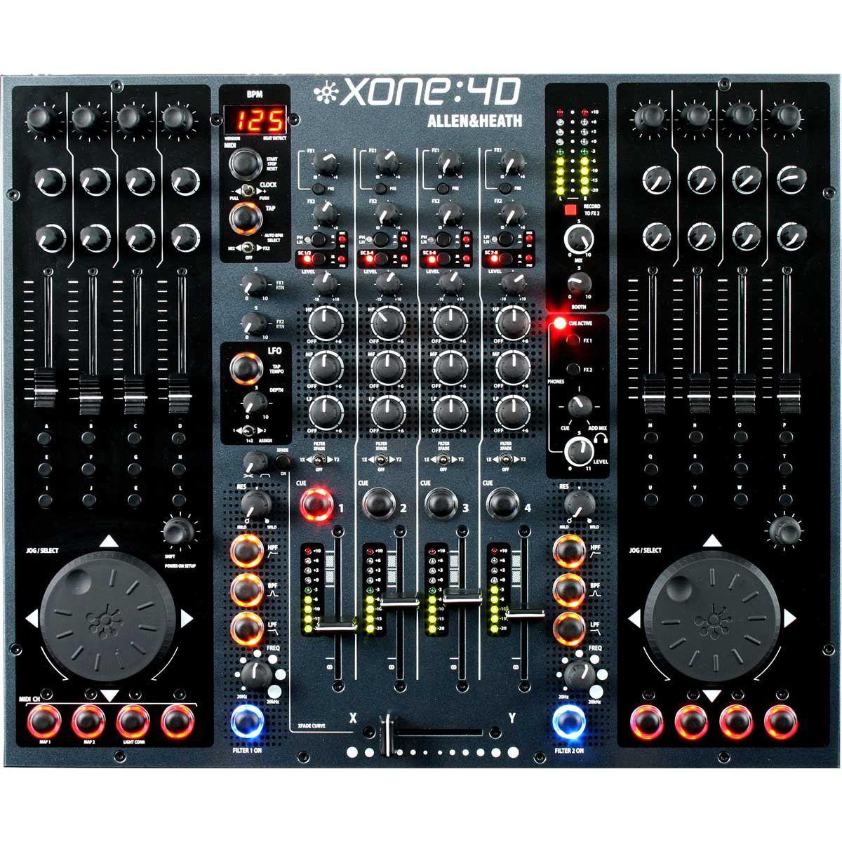 Allen Heath Xone 4D Mixer Profissional Xone 4-D 4-Canais e Controladora Profissional