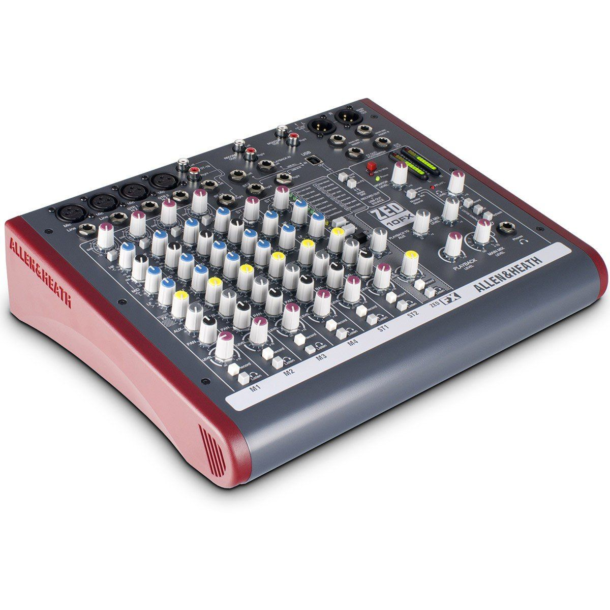 Allen Heath ZED 10Fx Mesa de Som ZED-10fx 10 Canais USB para Gravação e Estúdio