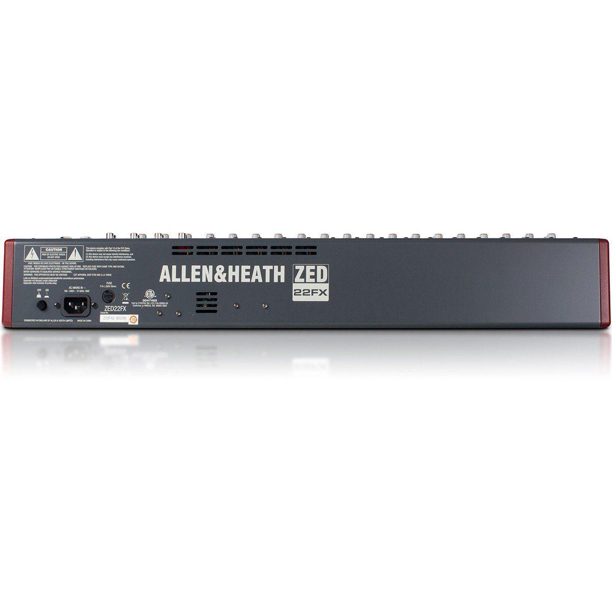 Allen Heath ZED 22Fx Mesa de Som ZED-22fx Analógica de 22 Canais para Gravação