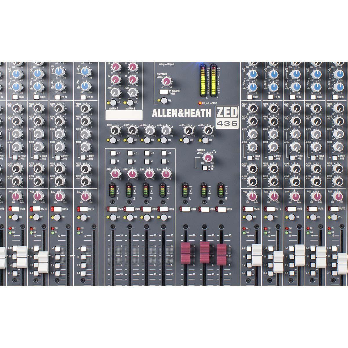 Allen Heath ZED 436 Mesa de Som ZED-436 Analógica de 36 Canais para Bandas e Igrejas