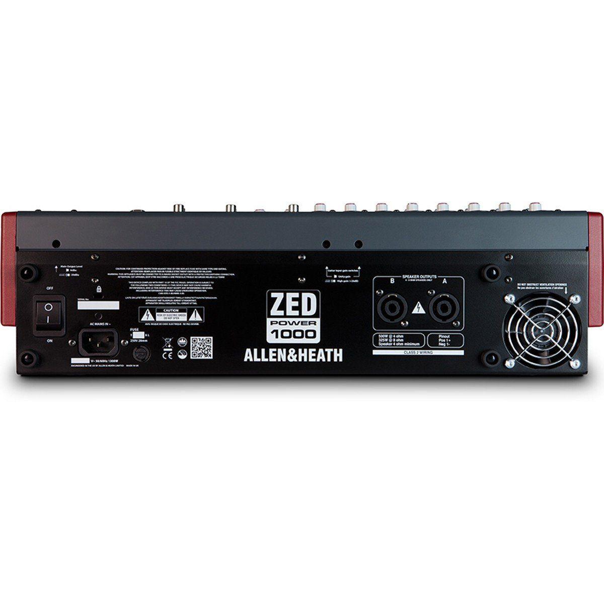 Allen Heath ZED Power 1000 Mesa de Som ZED POWER-1000 Analógica para Reforço de Som