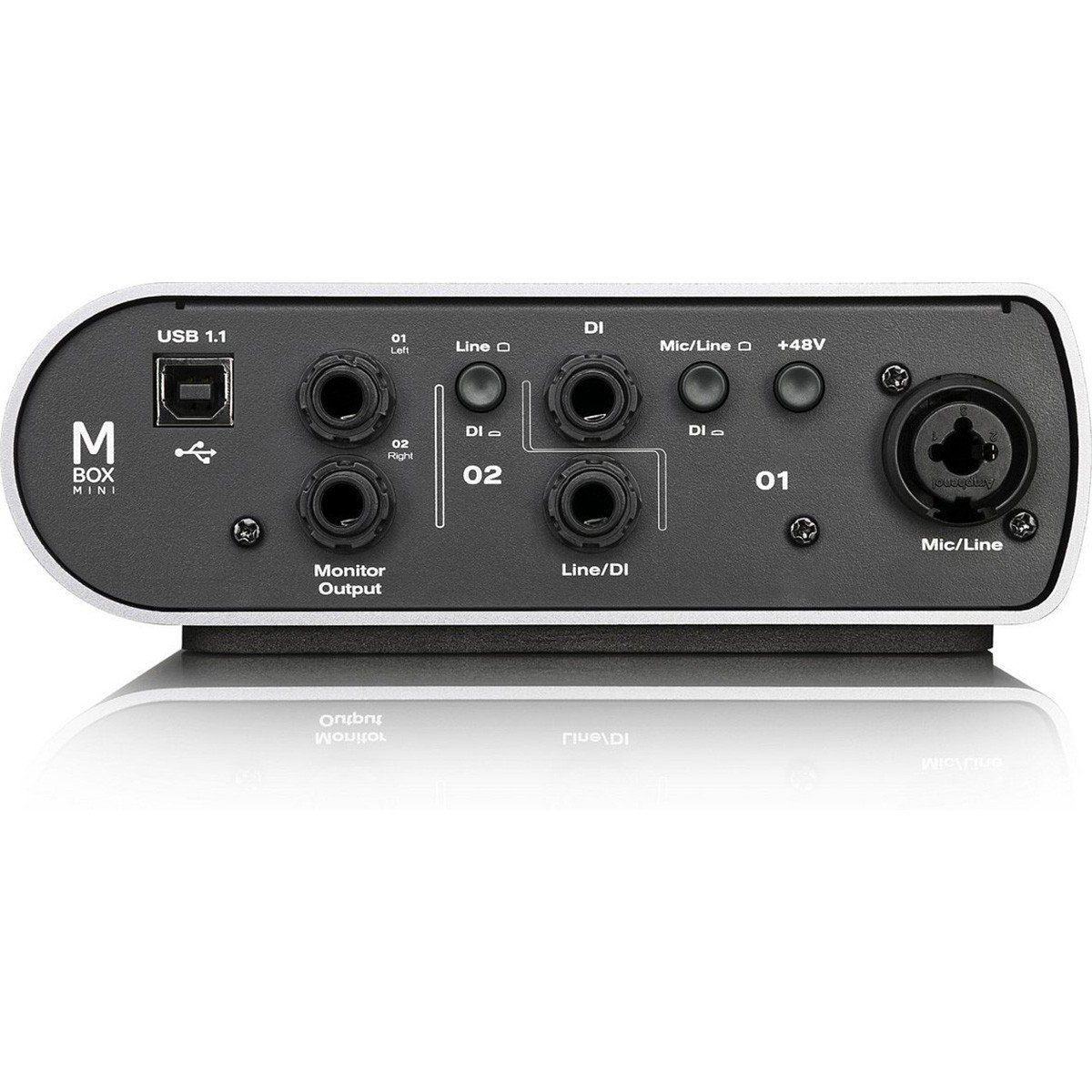 Avid Mbox Mini Interface de Áudio M-Box Mini 2x2 Pro Tools Express 24-Bit 48Khz Usb