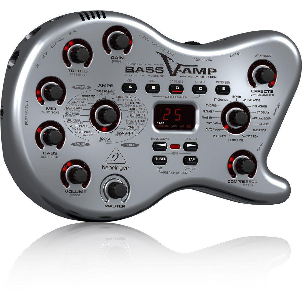 Behringer LX1B Bass V-Amp Pedaleira Pedal para Contrabaixo Sons Clássicos