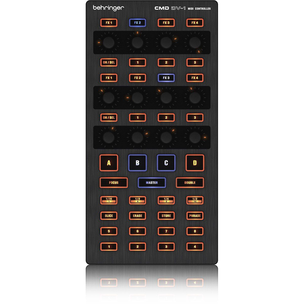 Behringer CMD DV-1 Controladora Dj CMD DV1 MIDI Portátil Usb para DVS