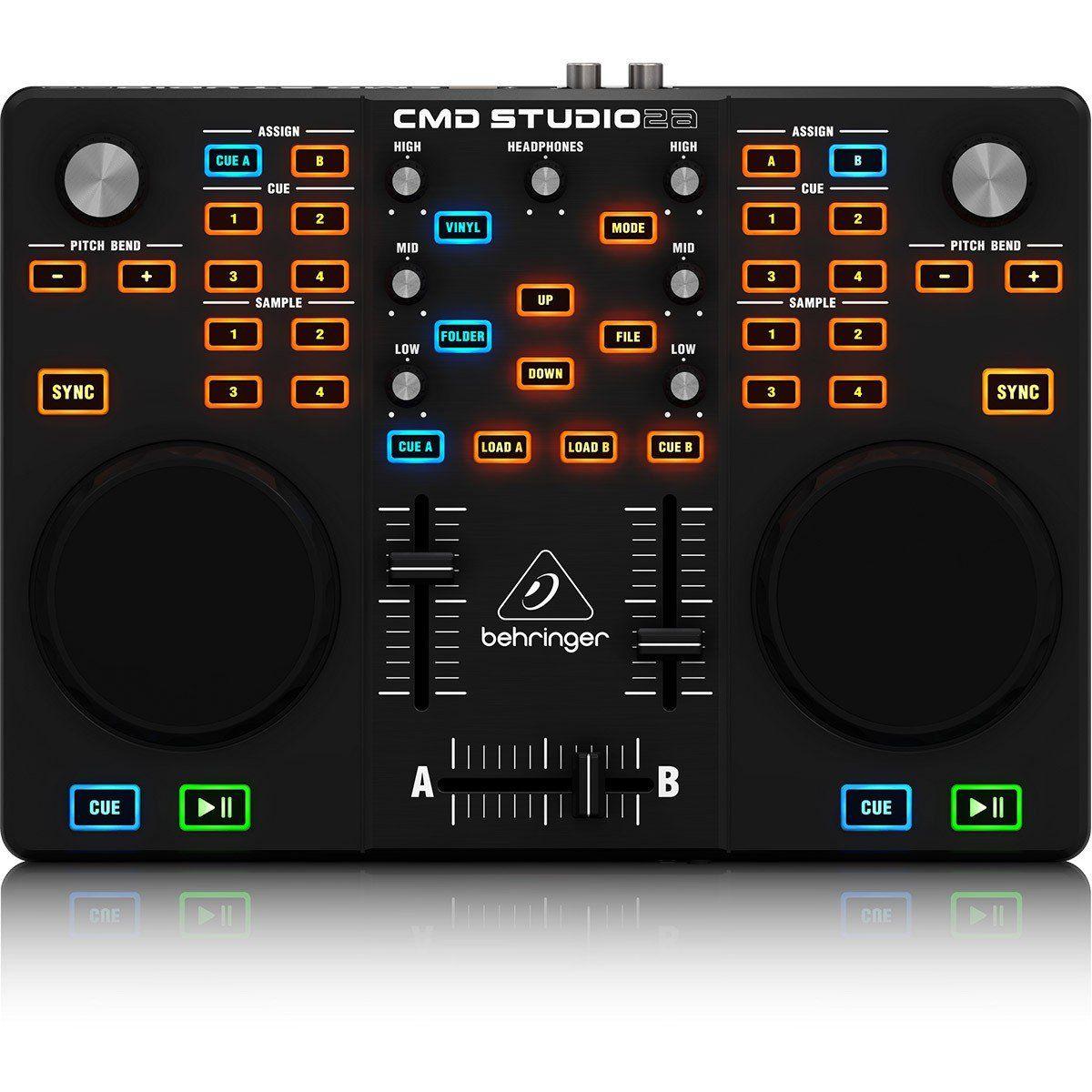 Usado - Behringer CMD Studio 2A Controladora Dj Profissional 2 Decks para Iniciantes