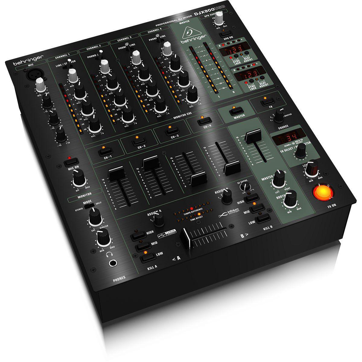 Behringer DJX900 Mixer Behringer DJX900 Usb com 5 Canais e Crossfader